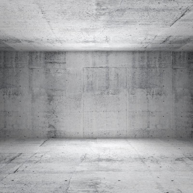 Abstrakt vit inre av tomt konkret rum arkivfoton