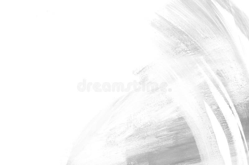 Abstrakt vit- och grå färgbakgrundsmålning Kan användas som en vykort Penseldrag av målarfärg modern konst Samtida konst vektor illustrationer