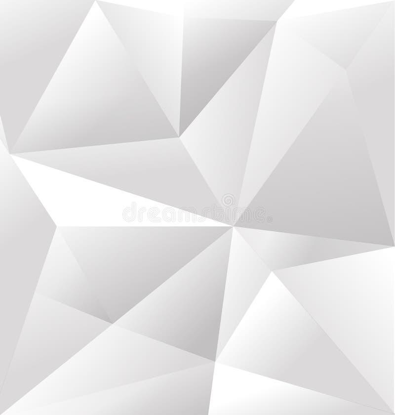 Abstrakt vit triangelbakgrund för vektor stock illustrationer