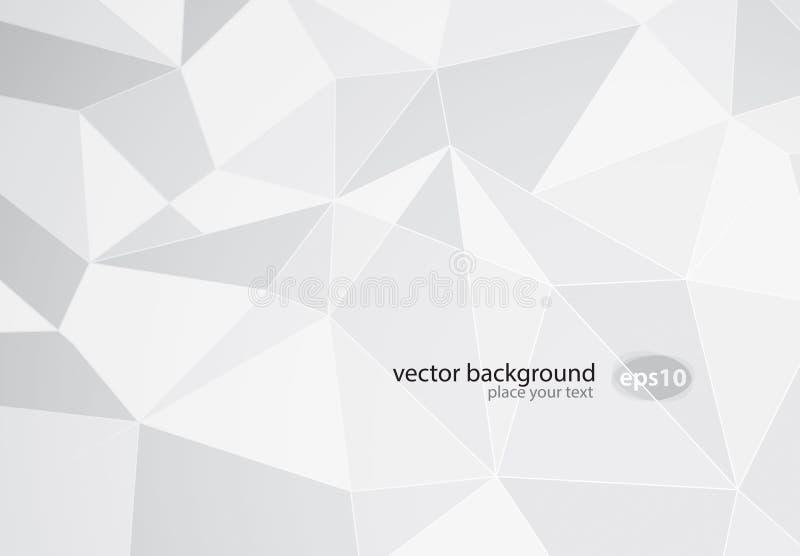 Abstrakt vitbakgrund stock illustrationer