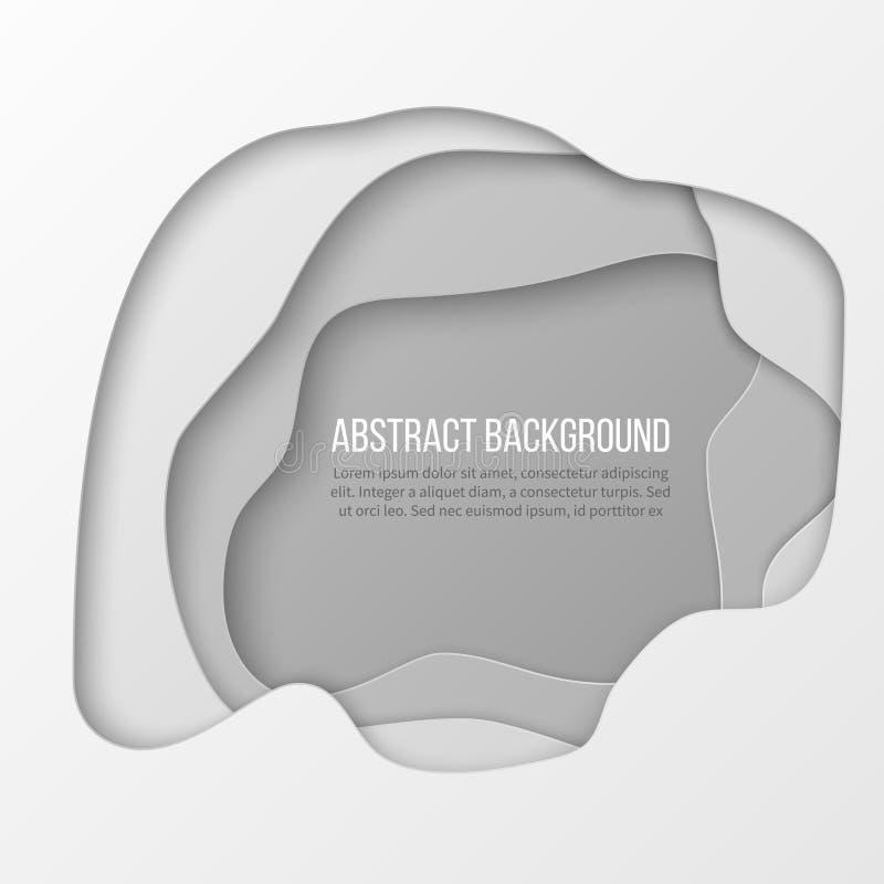 Abstrakt vitbok klippt i lager bakgrund royaltyfri illustrationer