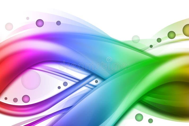 abstrakt wave för bakgrundsregnbågeswirl royaltyfri illustrationer