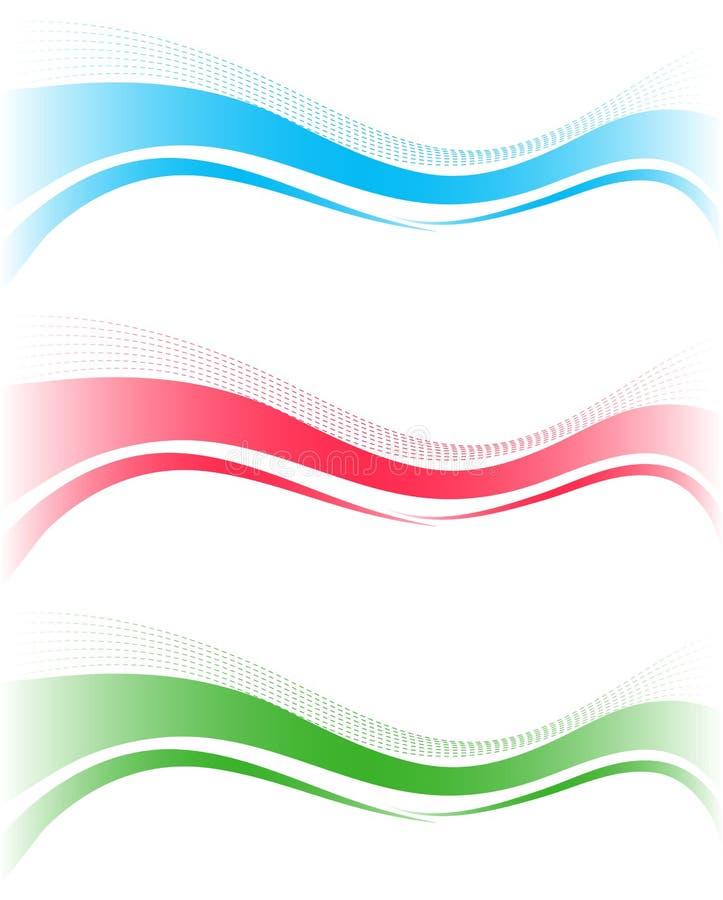 Abstrakt wavebakgrund stock illustrationer