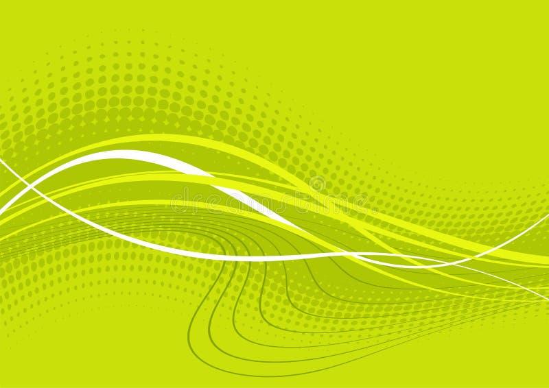 abstrakt wavy bakgrundsgreen stock illustrationer