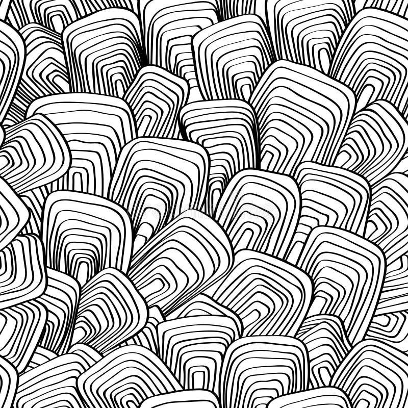 Abstrakt, wektor, bezszwowy, tło linie i prostokąty royalty ilustracja
