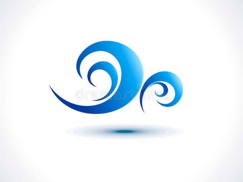 Abstrakt wiatrowa ikona ilustracja wektor