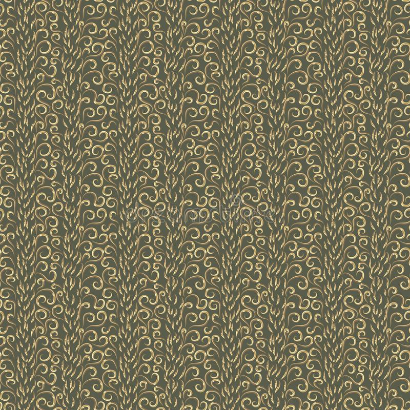 Abstrakt wiele różni złoci kędziory na zielonym tle ilustracji