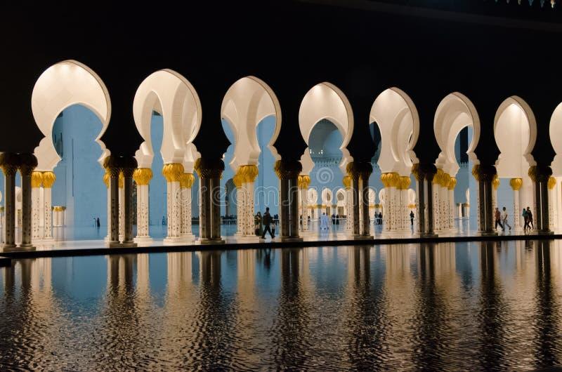 Abstrakt Wielki meczet założyciel UAE przy Abu Dhabi obraz royalty free