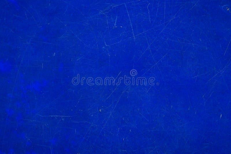 Abstrakt wietrzał naturalną porysowaną starą błękitną plastikową teksturę su zdjęcia royalty free