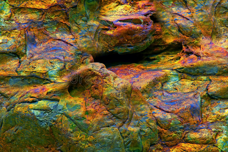 Abstrakt wietrzejąca kolorowa skała fotografia royalty free