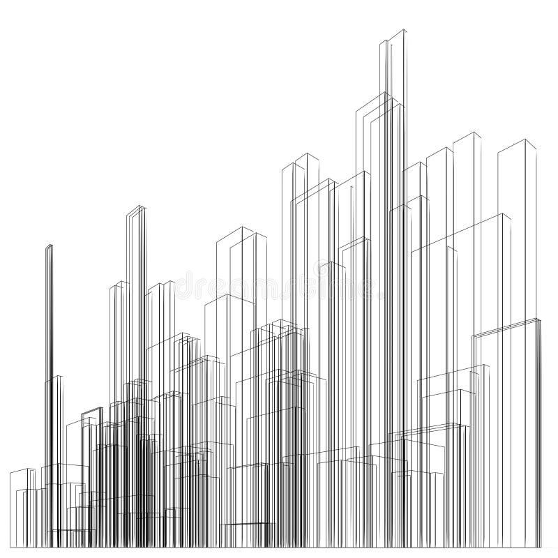 abstrakt wireframe stock illustrationer
