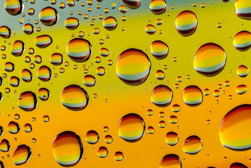 Abstrakt woda Opuszcza Makro- tła obrazy stock