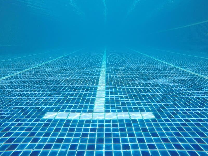 Abstrakt woda zamazywał wizerunki, tekstury i style baseny które współzawodniczą w 2020 Olympics przy Tokio, Japonia zdjęcie stock