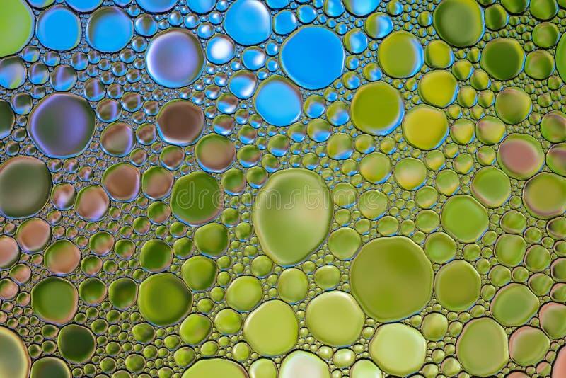 Abstrakt wody oleju bąbla kolorowy tło Naturalny tło zdjęcie royalty free