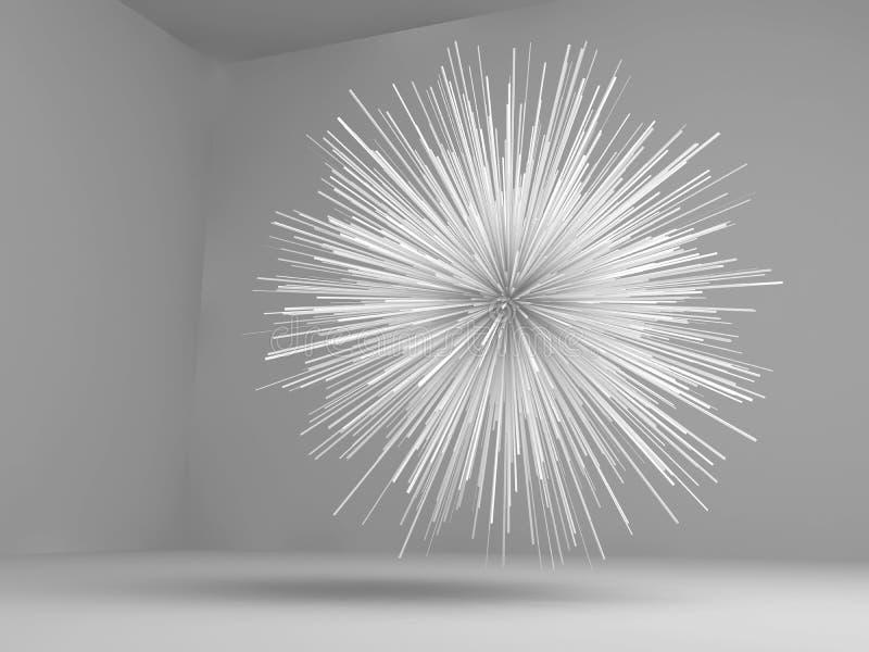Abstrakt wybuchający gwiazda kształtny biały przedmiot ilustracja wektor