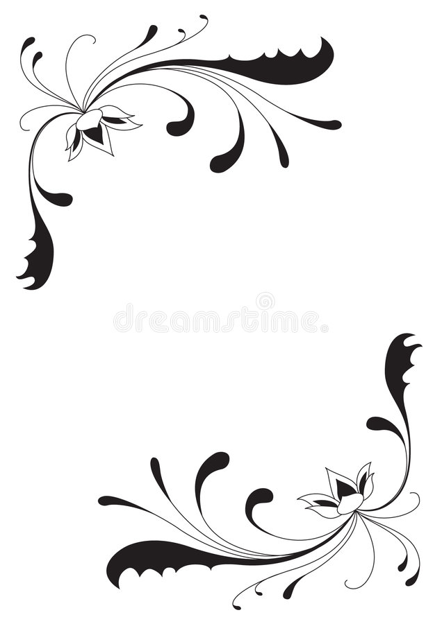 abstrakt wygina się kwiaty ilustracji