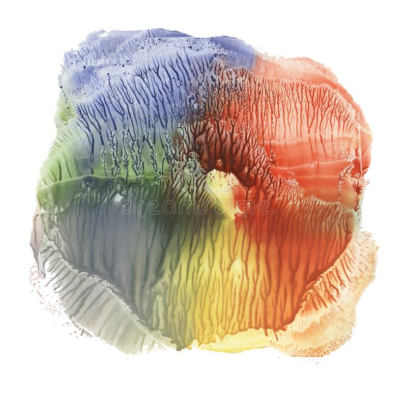 Abstrakt wykładał marmurem tło, nacre tekstura, błękitnej marmoryzacji faliste linie, artystyczna ciekła farby tekstura, kreatywn ilustracja wektor