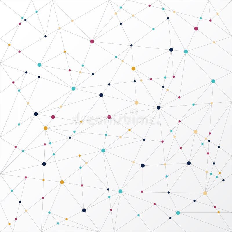 Abstrakt wykłada podłączeniową technologię kolorową, Wektorowy illustrati royalty ilustracja
