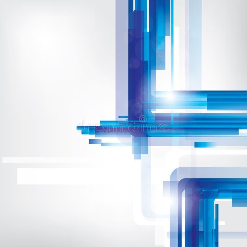 Abstrakt wykłada tło z barwionymi elementami ilustracja wektor