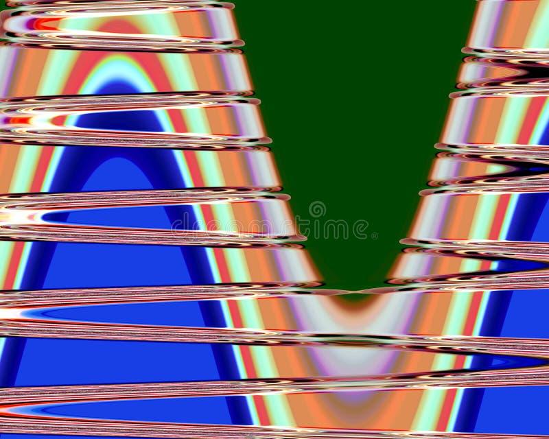 Abstrakt zaświeca pomarańczowych kolorowych kształty, grafika, geometrie, tło i teksturę, ilustracja wektor