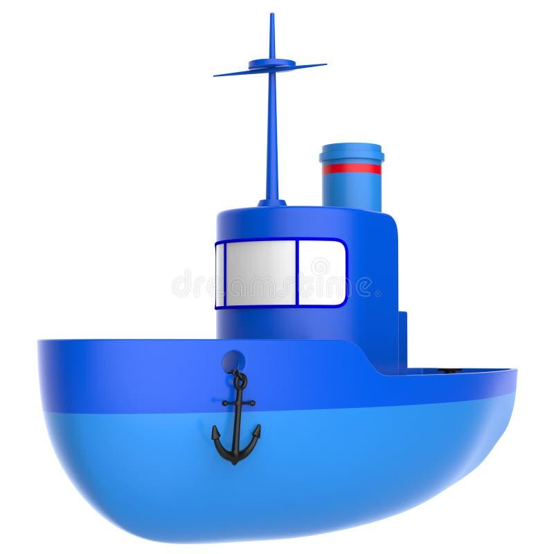 Abstrakt zabawki statek ilustracja wektor