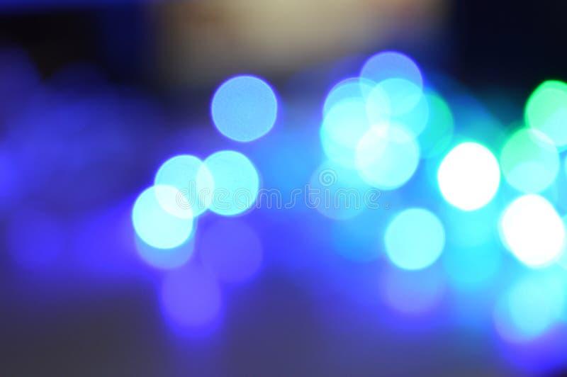 Abstrakt zamazujący błękitny okręgu bokeh światło obraz royalty free