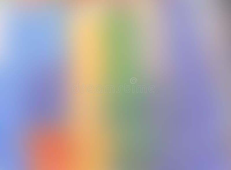 Abstrakt zamazujący gradientowy siatki tło w jaskrawej tęczy barwi Kolorowego gładkiego sztandaru szablon ilustracji