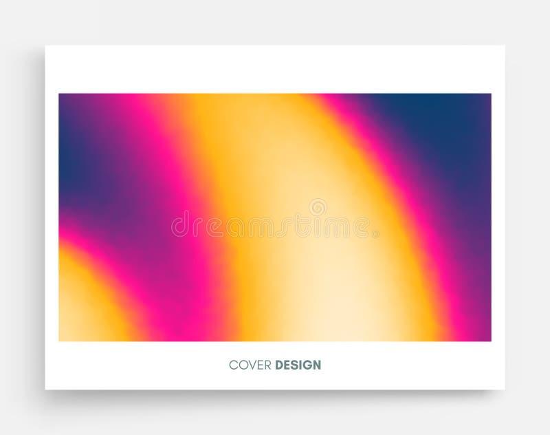 Abstrakt zamazujący koloru tło Nowożytny parawanowy wektorowy projekt dla wiszącej ozdoby app Modni gradienty ilustracja wektor