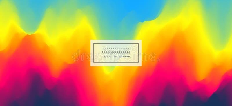 Abstrakt zamazuj?cy koloru t?o Nowo?ytny parawanowy wektorowy projekt dla wisz?cej ozdoby app Modni gradienty ilustracji