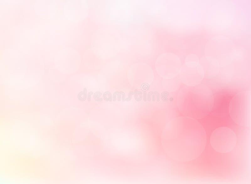Abstrakt zamazywał miękkiego ostrości bokeh jaskrawy menchia koloru backgroun ilustracja wektor