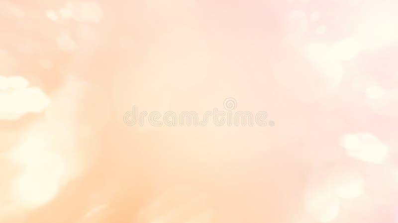 Abstrakt zamazywał pięknego rozjarzonego pastelowego gradientowego tło z dwoistego ujawnienia bokeh światła pojęciem dla ślubnego ilustracji