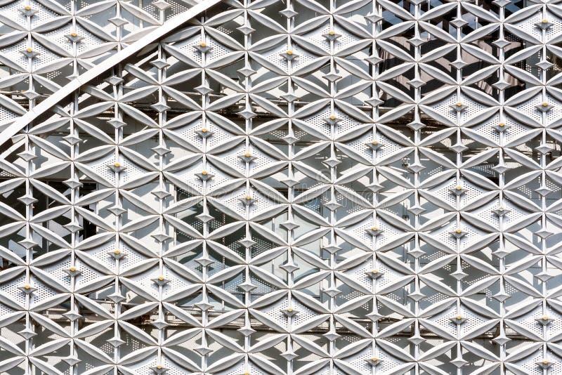 Abstrakt zamknięty nowożytny zewnętrzny architektoniczny metal ściany pa up zdjęcie royalty free