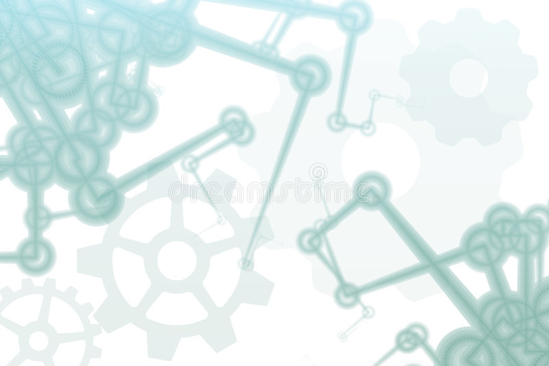 abstrakt zbroi fabrycznego futurystycznego robot ilustracja wektor