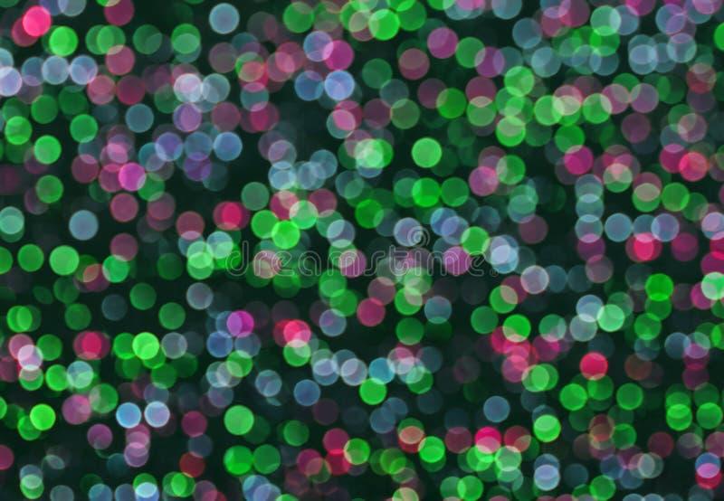 Abstrakt zieleń, błękit, różowy bokeh bąbla tło zdjęcie royalty free