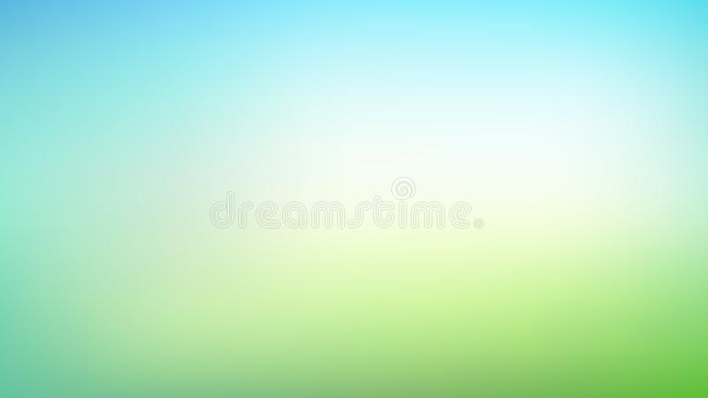 Abstrakt zieleń i błękitny zamazany gradientowy siatki tło z światłem Modni kolory Nowożytny natury tło Ekologii pojęcie dla royalty ilustracja