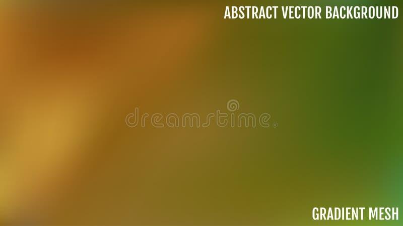 Abstrakt zieleń i błękitny zamazany gradientowy tło z światłem Natury tło Ocienionego gładkiego jedwabiu pusty tło royalty ilustracja