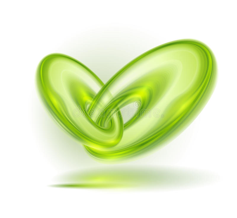 Abstrakt zieleni bąble ilustracji
