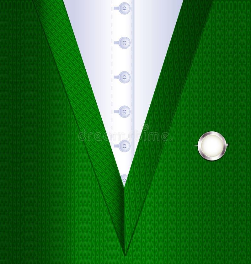 Abstrakt zieleni kamizelka ilustracja wektor