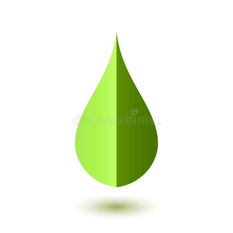 Abstrakt zieleni kropli ikona ilustracji