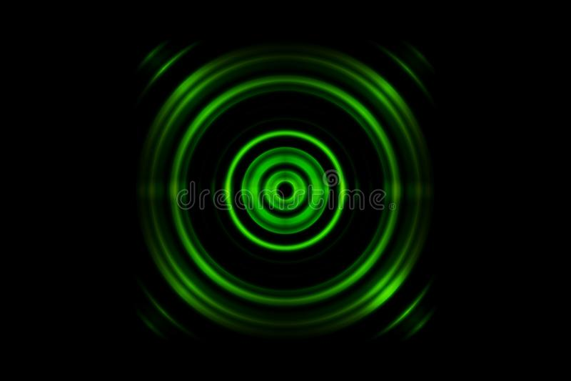 Abstrakt zieleni pierścionek z rozsądnymi fala oscyluje tło royalty ilustracja