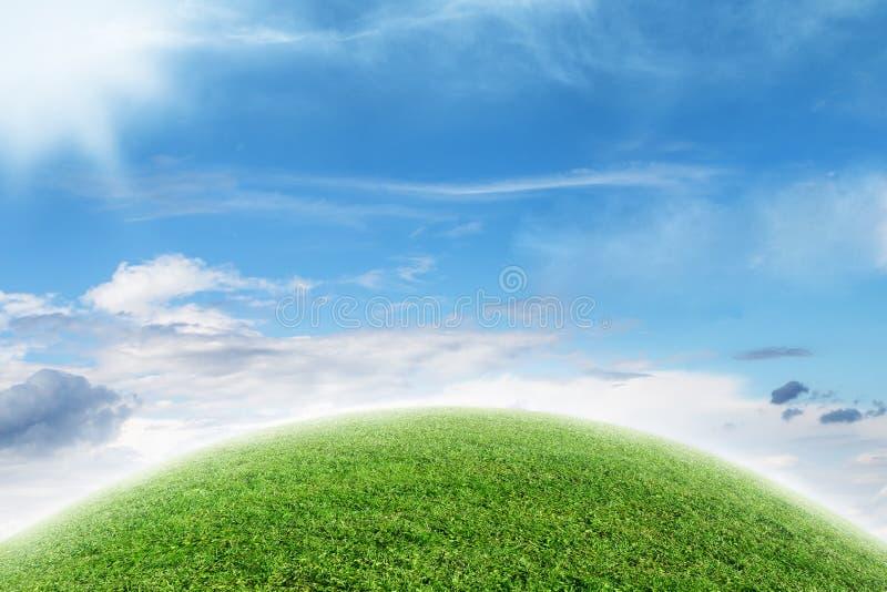 Abstrakt zieleni planeta obrazy royalty free