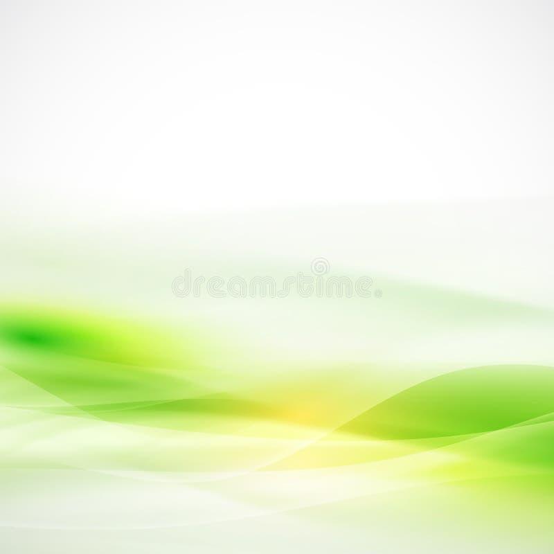 Abstrakt zieleni przepływu gładki tło, wektor & ilustracja, royalty ilustracja