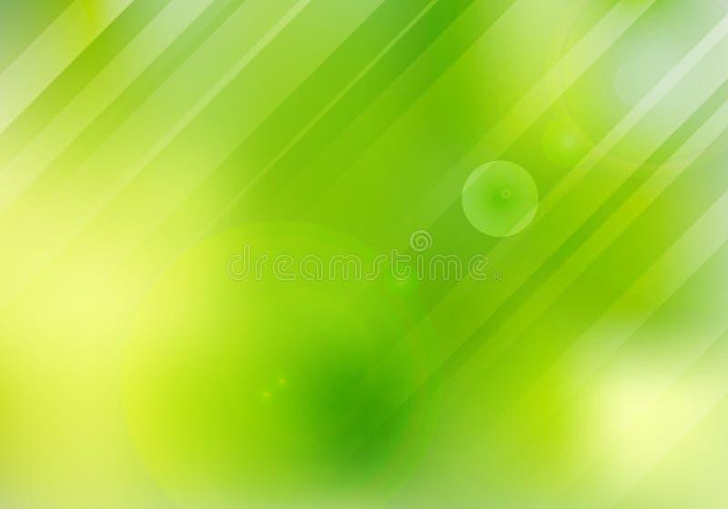 Abstrakt zielona natura zamazywał tło z obiektywu liga i racą ilustracja wektor