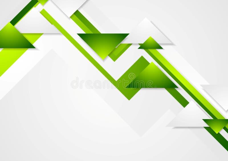 Abstrakt zielonej techniki korporacyjny wektorowy tło ilustracji