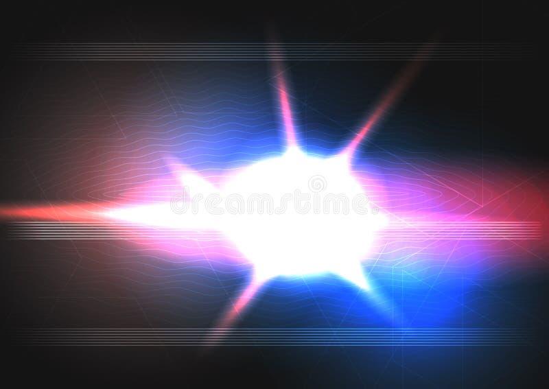 Abstrakta światła gwiazdy tło z linia wzorem wektor ilustracji