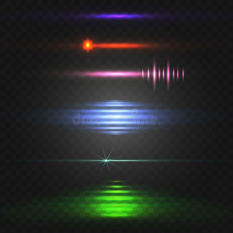 abstrakta światło Kolorowy WEKTOROWY ustawiający jarzyć się linie różni kolory ilustracji