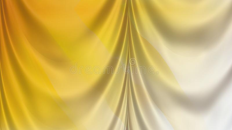 Abstrakta światło - pomarańczowy atłas Drapuje ilustracja wektor