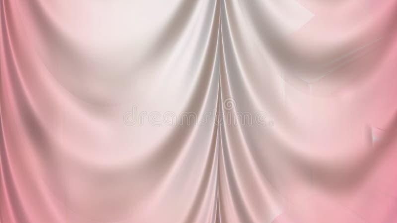 Abstrakta światło - różowy atłas Drapuje ilustracja wektor