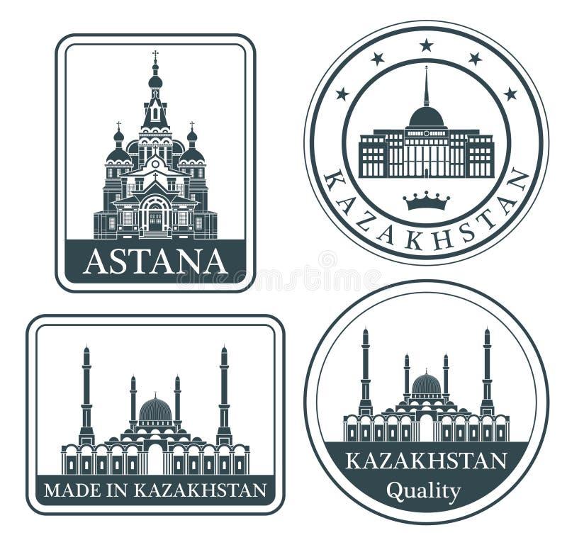 Abstrakta Astana royaltyfri illustrationer