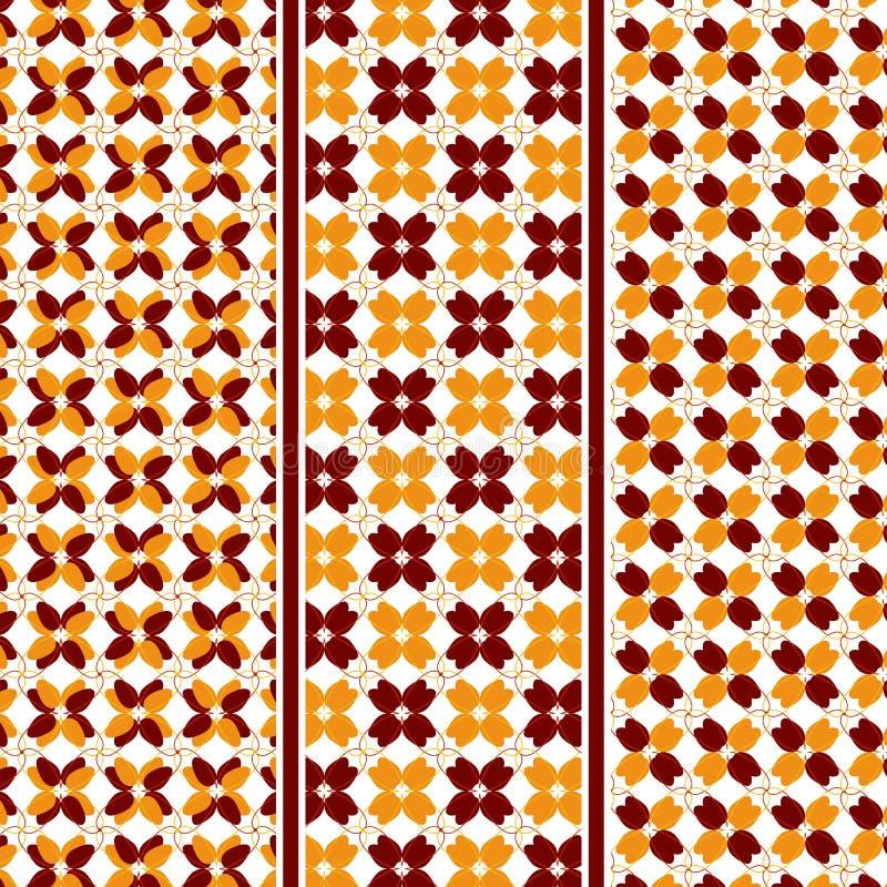 Abstrakta Autumn Leaves Pattern stock illustrationer